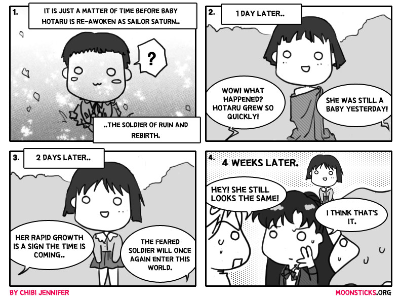 MoonSticks Sailor Moon Comic/Doujinshi #13 - Return of Sailor Saturn featuring Sailor Saturn/Hotaru Tomoe, Sailor Pluto/Setsuna Meiou, Sailor Uranus/Haruka Tenou and Sailor Neptune/Michiru Kaiou