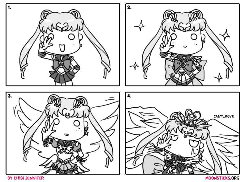 MoonSticks Sailor Moon Comic/Doujinshi #17 - Sailor Moon's Power-Up! featuring Sailor Moon, Super Sailor Moon, Eternal Sailor Moon and Special Eternal Queen Sailor Moon