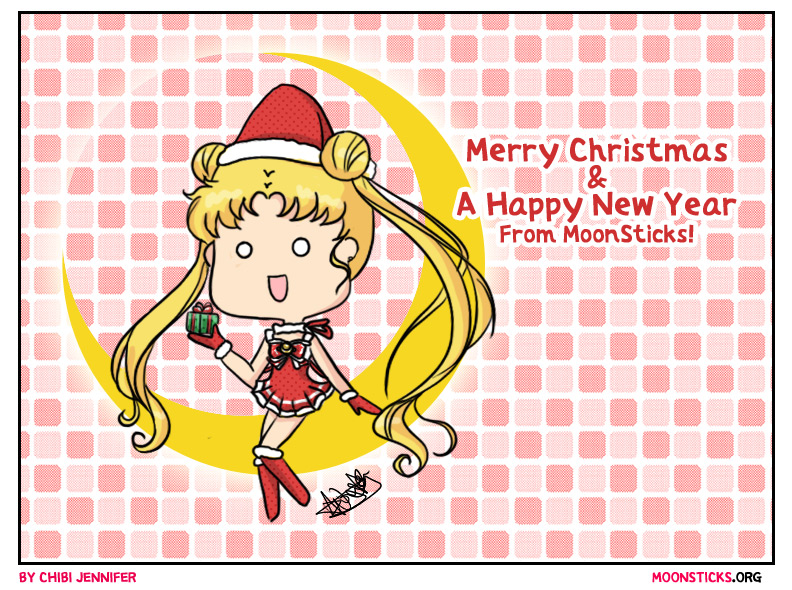 Sailor Moon Crystal Merry Christmas and a Happy New Year from MoonSticks! Usagi/SailorMoon as Chibi Sexy Santa