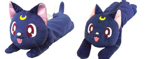 Luna Plush Tissue Box Cover and Pen Pouch