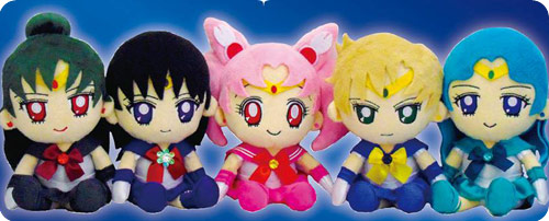 Sailor Moon Outer Senshi Mini Plush Toy Cushion