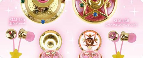 Sailor Moon Compact Cases & Ear Phones Set 2