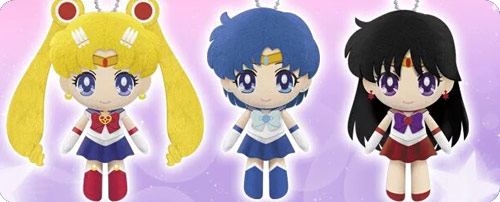 Sailor Moon Crystal Mascot Plushie Charms Set 1