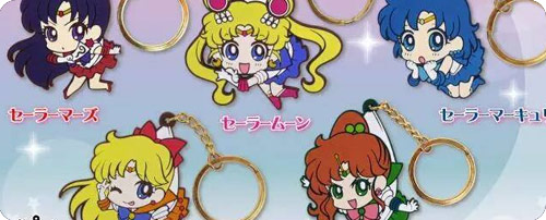 Sailor Moon Crystal 'Pinched' Keychains and Phone Jackets
