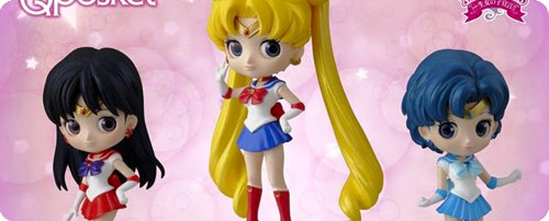 Sailor Moon, Mars and Mercury Q Posket Figures