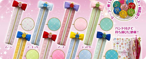 Sailor Moon Pencil Cases with Ribbon Zippers