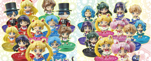 Petite Sailor Moon Character Figures Glitter Version Sets