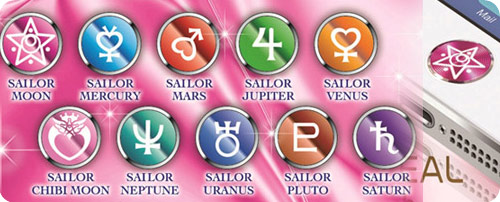 Sailor Moon Alumi button seals