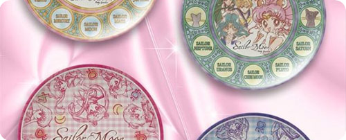 Sailor Moon	Melamine (Plastic) Plates Set 2