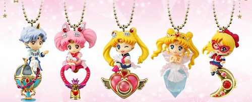 Sailor Moon Twinkle Dolly Set 4 (Helios, Sailor V, Neo Queen Serenity, Super Sailor Moon & Chibimoon)