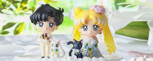 Sailor Moon Wedding Usagi and Mamoru Petit Chara Set