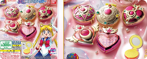 Sailor Moon Transform Compact Set of 5 Gashaponsn