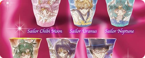 Sailor Moon Melamine Cups Set 3