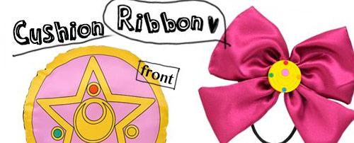 Sailor Moon Ribbon and Cushion