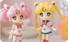 Super Sailor Moon & Chibi Moon Figuarts Mini