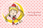 Usagi as Sexy Santa Chibi Wallpaper